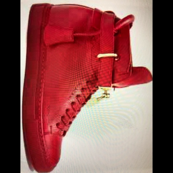 buscemi Shoes - New Ladies red high top Buscemi sneakers size 9